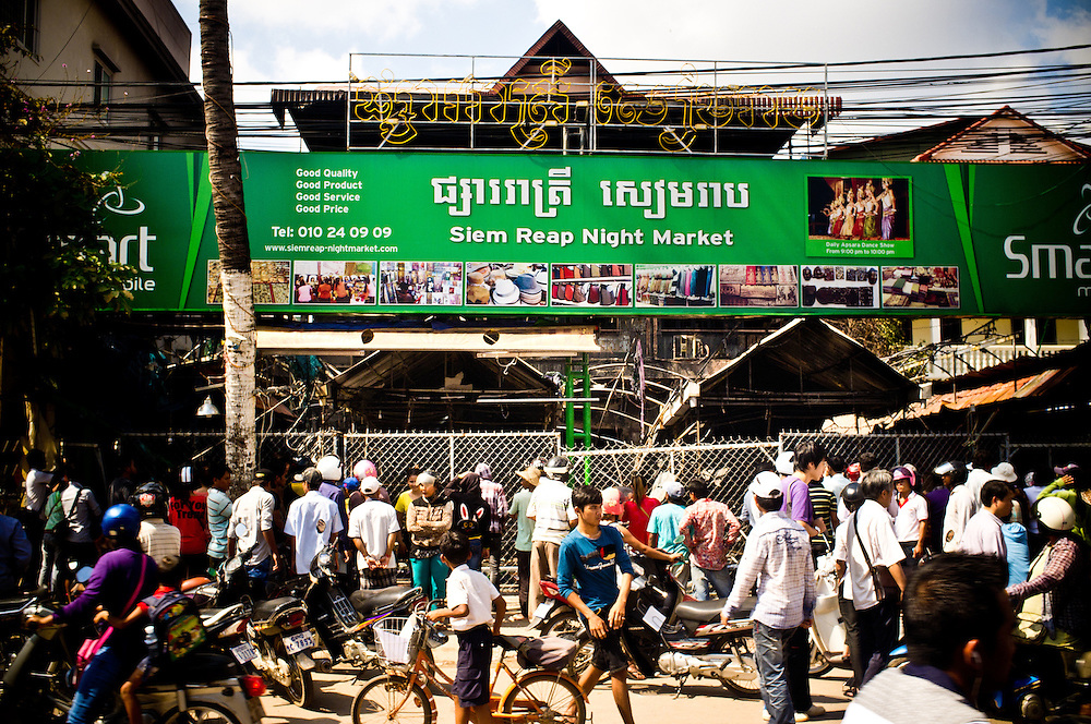 A fire in the early morning hours of December 8th 2012 in the popular Siem Reap night market killed 8 people.