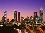 Atlanta skyline, shot from the Jackson Street Bridge.