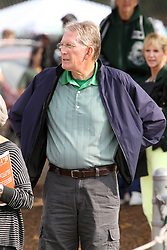12 October 2013:  Retired Circuit Judge W. Charles Witte during an NCAA division 3 football game between the North Park vikings and the Illinois Wesleyan Titans in Tucci Stadium on Wilder Field, Bloomington IL