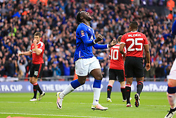 Romelu Lukaku of Everton celebrates Chris Smalling of Manchester United own goal, Everton 1-1 Manchester United - Mandatory byline: Jason Brown/JMP - 07966386802 - 23/04/2016 - FOOTBALL - Wembley Stadium - London, England - Everton v Manchester United - The Emirates FA Cup