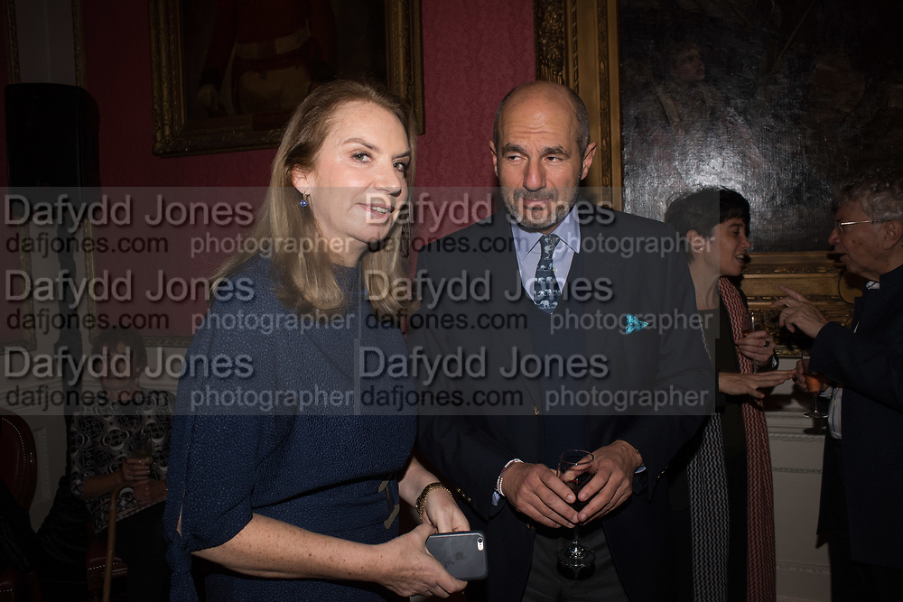 NANCY SLADEK, NICHOLAS MAVROLEUM, Literary Review Christmas party and Bad SEx Awards. In and Out club. St. James Sq. London. 3 December 2018
