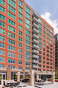 Virgina Apartment Building extrior view of  the Avant of Reston Town Center by Jeffrey Sauers of Commercial Photographics, Architectural Photo Artistry in Washington DC, Virginia to Florida and PA to New England