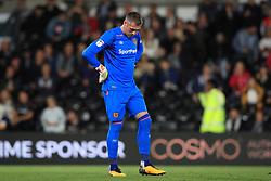 Hull City goalkeeper Allan McGregor stands dejected