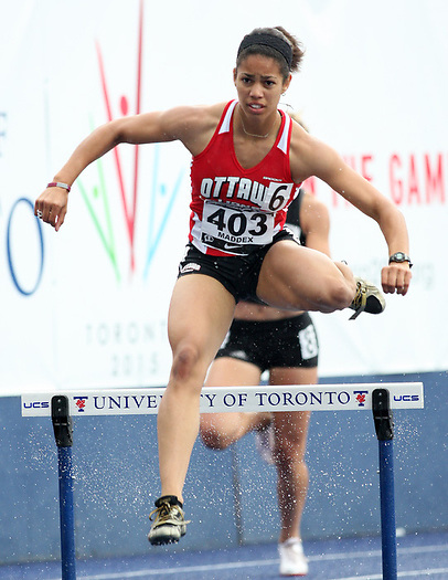 (Toronto, Ontario---28/06/09)   Ashlea Maddex competing in   at the 2009 Canadian National Track and field Championships. Photograph copyright Sean Burges / Mundo Sport Images, 2009. www.mundosportimages.com / www.msievents.