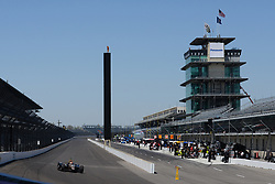 April 30, 2018 - Indianapolis, IN, U.S. - INDIANAPOLIS, IN - APRIL 30: James Hinchcliffe (5) entering Turn 1 with the famous Pagoda and Scoring Pylon in the background during an Open Test on April 30, 2018, at the Indianapolis Motor Speedway in Indianapolis, IN. (Photo by James Black/Icon Sportswire) (Credit Image: © James Black/Icon SMI via ZUMA Press)