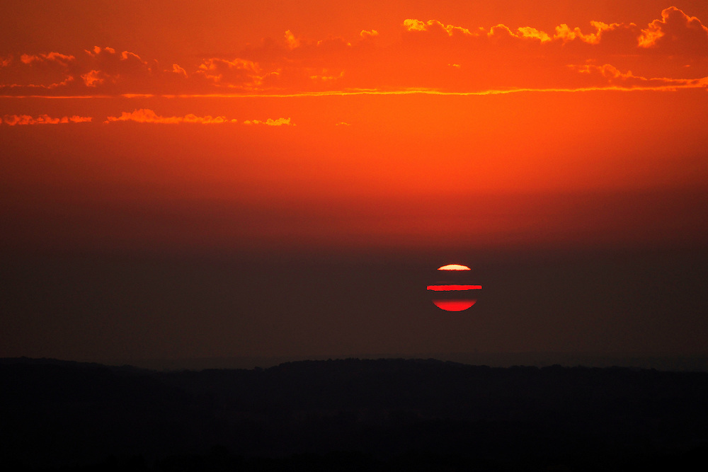 This sunrise was taken at Lapham Peak in Delafield, Wisconsin.
