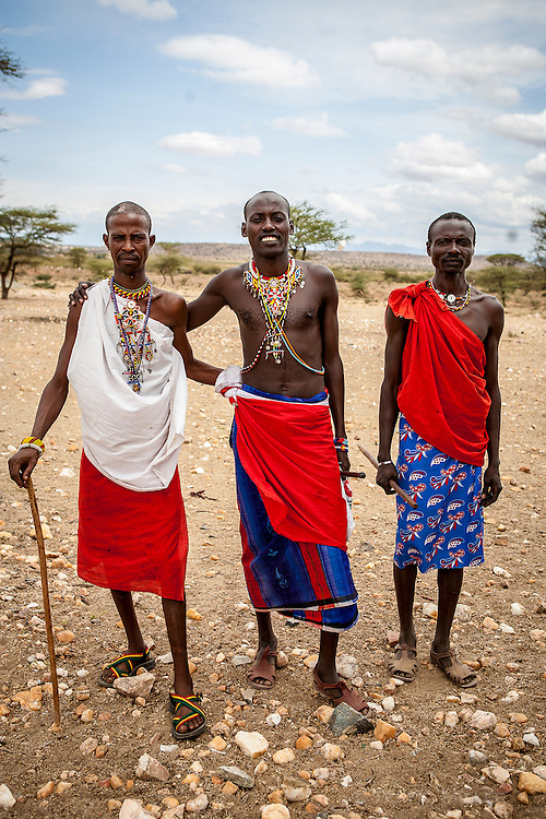 Samburu men, Samburu National Reserve, Kenya.