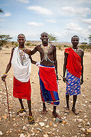Samburu men, Samburu National Reserve, Kenya.