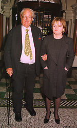 SIR JOHN & LADY MORTIMER at a luncheon in London on 3rd February 1999.MNW 45