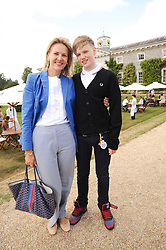 CARLA BAMBERGER and her son HUGO BAMBERGER at a luncheon hosted by Cartier for their sponsorship of the Style et Luxe part of the Goodwood Festival of Speed at Goodwood House, West Sussex on 4th July 2010.