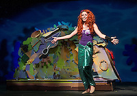 "Kaylee Lemire as ""Ariel"" during dress rehearsal for Gilford Middle School's production of ""The Little Mermaid Jr"" Tuesday evening.  (Karen Bobotas/for the Laconia Daily Sun)"