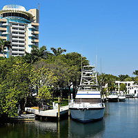 Boats at Pier 66 Marina in Fort Lauderdale, Florida<br /> Whenever I am on a road trip, I often grumble about the high price of parking at a big city hotel. In Fort Lauderdale, many guests arrive by boat and then moor along the hotel&rsquo;s attached marina.  An example is the Hyatt Regency Pier Sixty-six. You can visit just long enough for a bite to eat at one of their five restaurants or long enough until you sail off to your next destination.  You don&rsquo;t have a boat?  No problem.  You can rent a sailboat or powerboat or charter a yacht or deep-sea fishing excursion.