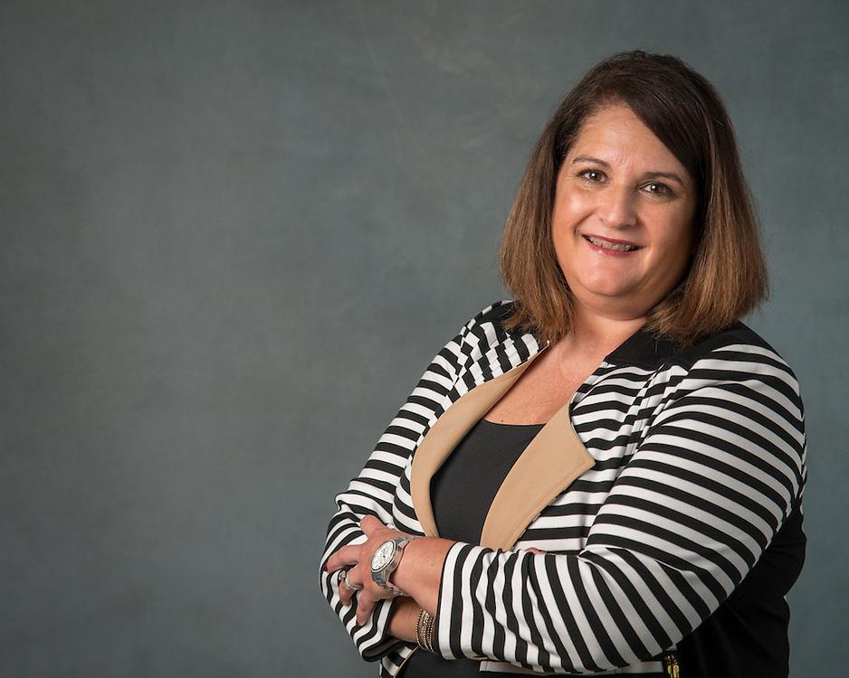 Gloria Cavazos poses for a photograph, September 2, 2015.