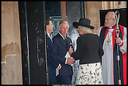 PRINCE CHARLES, Memorial service for Mark Shand.  . St. Paul's Knightsbridge. September 11 2014.