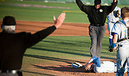 April 4, 2014 - Grossmont pitcher Calvin Farris lays by the mound after getting struck by a hit during his game against Mater Dei at Mater Dei High School in Santa Ana, CA.<br /> <br /> <br /> ///ADDITIONAL INFORMATION: 3snell.0404 &ndash; 4/4/14 &ndash; FOSTER SNELL, ORANGE COUNTY REGISTER - Aliso Niguel vs Grossmont at Mater Dei High School for the Boras Classic tournament. Boys varsity baseball.