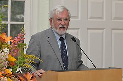 Harold W. Attridge, Dean of Yale Divinity School, speaking at the Breaking The Veil Art Exhibit Opening Reception, 8 September 2009, at the YDS.