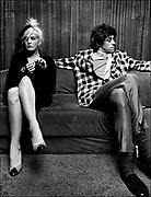 Bob Geldof with Paula Yates backstage