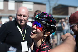 Katarzyna Niewiadoma (POL) of CANYON//SRAM Racing celebrates winning the Amstel Gold Race - Ladies Edition - a 126.8 km road race, between Maastricht and Valkenburg on April 21, 2019, in Limburg, Netherlands. (Photo by Balint Hamvas/Velofocus.com)