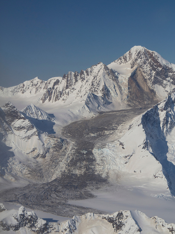 A massive landslide (rock avalanche) along the flanks of La Perouse, 10,728' in Glacier Bay National Park, was so large that it was detected on seismographs.