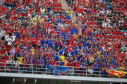 BANGKOK, THAILAND - Sunday, July 28, 2013: Thailand supporters during a preseason friendly match against Liverpool at the Rajamangala National Stadium. (Pic by David Rawcliffe/Propaganda)