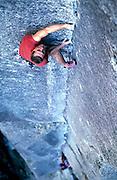 Chris Jones, Model Release, outdoor/rock climbing, Bungonia George, NSW, Australia, 1998. Photo: Sport the Library/PHOTOSPORT