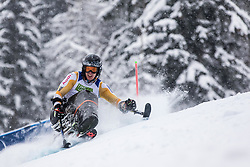 Meijer Floris of Nederlands during Slalom race at 2019 World Para Alpine Skiing Championship, on January 23, 2019 in Kranjska Gora, Slovenia. Photo by Matic Ritonja / Sportida