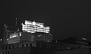 Berlin,  GERMANY. Looking from the  Memorial to the Murdered Jews of Europe, [Denkmal für die ermordeten Juden Europas], Holocaust Memorila [Holocaust-Mahnmal],  Architect, Peter EISENMAN Engineer,  Buru HAPPOLD, Location - located one block south of the Brandenburg Gate, in the Friedrichstadt neighborhood. Berlin, GERMANY. towards the DB. office block located by the Potsdamer Platz, Wednesday - 29/07/2009  [Mandatory Credit Peter Spurrier/ Intersport Images] Street Photos