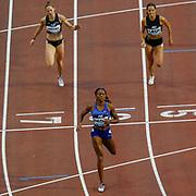 Courtney Okolo (USA) winning the Women's 400m, Imke Vervaet (Belgium), Camille Laus (Belgium), during the IAAF Diamond League event at the King Baudouin Stadium, Brussels, Belgium on 6 September 2019.