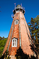 Sweden, Gotska Sandön national park. The old lighthouse.