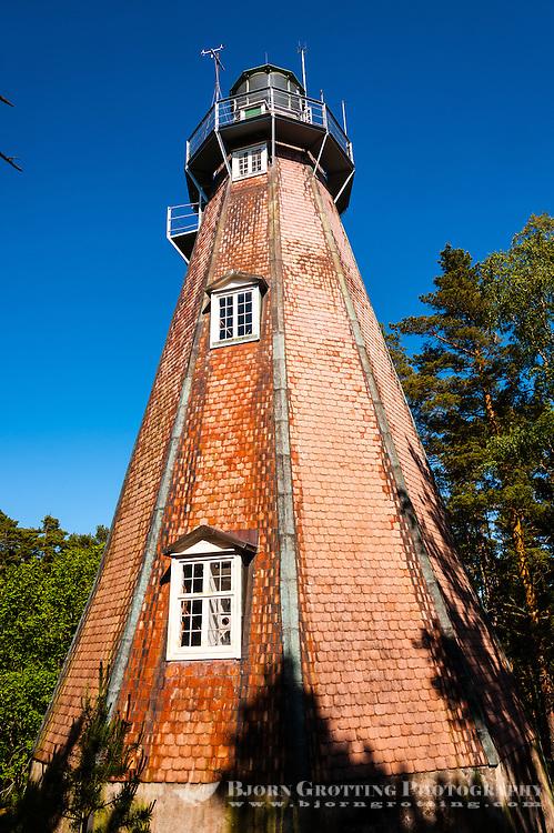 Sweden, Gotska Sandön national park. The old lighthouse.