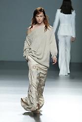 September 16, 2016 - Madrid, Spain - A model walks during Angel Schlesser Fashion Show at Madrid Fashion Week Spring/Summer 2017/18 at Ifema, on September 16, 2016, in Madrid, Spain. (Credit Image: © Oscar Gonzalez/NurPhoto via ZUMA Press)