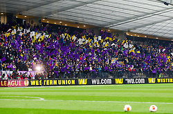 Fans prior to the football match between NK Maribor and Sevilla FC (ESP) in 1st Leg of Round of 32 of UEFA Europa League 2014 on February 20, 2014 at Stadium Ljudski vrt, Maribor, Slovenia. Photo by Vid Ponikvar / Sportida