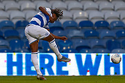 Queens Park Rangers midfielder Eberechi Eze (10) shoots during the EFL Sky Bet Championship match between Queens Park Rangers and Swansea City at the Kiyan Prince Foundation Stadium, London, England on 21 August 2019.