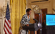The First Lady of the United States Michelle Obama launches Better Make Room, part of the Reach higher Initiative