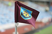 Burnley FC corner flag during the Premier League match between Burnley and Fulham at Turf Moor, Burnley, England on 12 January 2019.