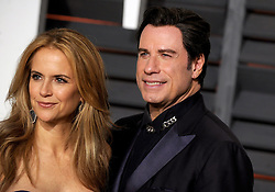 John Travolta, Kelly Preston in attendance for 2015 Vanity Fair Oscar Party Hosted By Graydon Carter at Wallis Annenberg Center for the Performing Arts on February 22, 2015 in Beverly Hills, California. EXPA Pictures © 2015, PhotoCredit: EXPA/ Photoshot/ Dennis Van Tine<br /> <br /> *****ATTENTION - for AUT, SLO, CRO, SRB, BIH, MAZ only*****