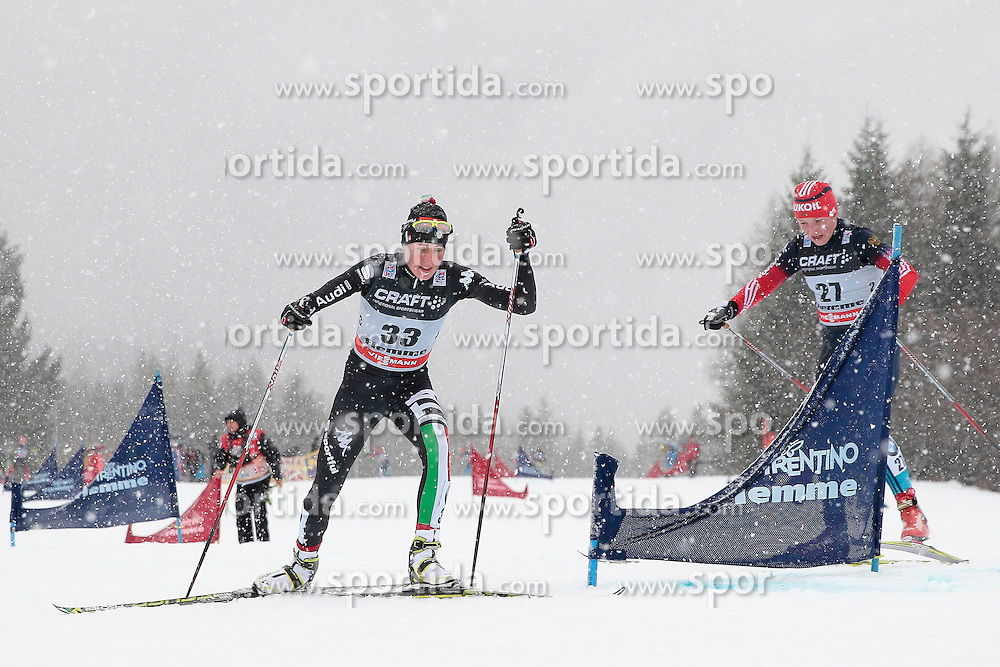 05.01.2014, Alpe Cermis, Cavalese, ITA, FIS Tour de Ski, Langlauf Damen, Individual Start 9 Km, im Bild Agreiter Debora (ITA) // during the Ladies 9 km Pursuit Cross Country of the FIS Tour de Ski 2014 at the Cross Country Stadium, Lago di Tesero, Italy on 2014/01/05. EXPA Pictures © 2014, PhotoCredit: EXPA/ Federico Modica