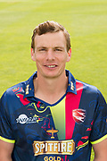 Will Gidman of Kent  during the Kent County Cricket Club Headshots 2017 Press Day at the Spitfire Ground, Canterbury, United Kingdom on 31 March 2017. Photo by Martin Cole.