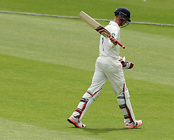 Durham's Keaton Jennings accepts the applause after being caught two short of his century  - Photo mandatory by-line: Robbie Stephenson/JMP - Mobile: 07966 386802 - 04/05/2015 - SPORT - Football - London - Lords  - Middlesex CCC v Durham CCC - County Championship Division One