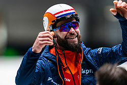 Sjinkie Knegt back on track during the training for ISU World Cup Finals Shorttrack 2020 on February 12, 2020 in Sportboulevard Dordrecht.