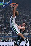 DESCRIZIONE : Atene Eurolega 2008-09 Quarti di Finale Gara 2 Panathinaikos Montepaschi Siena<br /> GIOCATORE : Shaun Stonerook<br /> SQUADRA : Montepaschi Siena<br /> EVENTO : Eurolega 2008-2009<br /> GARA : Panathinaikos Montepaschi Siena<br /> DATA : 26/03/2009<br /> CATEGORIA : schiacciata<br /> SPORT : Pallacanestro<br /> AUTORE : Agenzia Ciamillo-Castoria/Action Images.gr