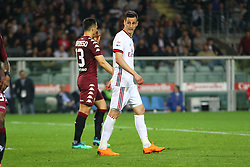 April 18, 2018 - Turin, Italy - Nikola Kalinic (AC Milan) during the Serie A football match between Torino FC and AC Milan at Olympic Grande Torino Stadium  on April 18, 2018 in Turin, Italy. .Final result: 1-1  (Credit Image: © Massimiliano Ferraro/NurPhoto via ZUMA Press)