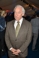 SIMON CALLOW at the World's Greatest Quiz Night in aid of the Quintessentially Foundation and Dimbleby Cancer Care held at the Riverside Parliament Panorama marquee at St Thomas' Hospital, Westminster Bridge Road, Londonon 15th September 2015.