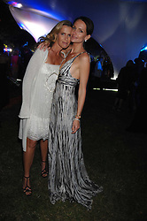 Left to right, INDIA HICKS and SAFFRON ALDRIDGE at the annual Serpentine Gallery Summer Party in association with Swarovski held at the gallery, Kensington Gardens, London on 11th July 2007.<br /><br />NON EXCLUSIVE - WORLD RIGHTS