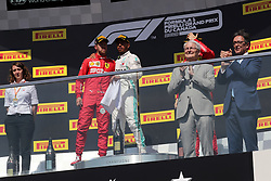 June 9, 2019 - Montreal, Canada - xa9; Photo4 / LaPresse.09/06/2019 Montreal, Canada.Sport .Grand Prix Formula One Canada 2019.In the pic: podium:.1st position Lewis Hamilton (GBR) Mercedes AMG F1 W10 .2nd position Sebastian Vettel (GER) Scuderia Ferrari SF90 .3rd position Charles Leclerc (MON) Scuderia Ferrari SF90 (Credit Image: © Photo4/Lapresse via ZUMA Press)