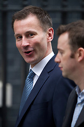 © London News Pictures. 19/03/2013. London, UK.  Chief Secretary of State for Health Jeremy Hunt MP arriving on Downing Street in London for cabinet meeting. Photo credit: Ben Cawthra/LNP.