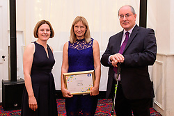 Lincolnshire Co-op long service awards 2018. Lincolnshire Co-op long service awards 2018. Lincolnshire Co-operative chief executive Ursula Lidbetter, left, and president Steve Hughes, right, present 25-year long service award to Carole Green (Stocktaker at Stocktaking Team Lincoln)<br /> <br /> Picture: Chris Vaughan Photography for Lincolnshire Co-op<br /> Date: September 20, 2018