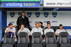 Bristol Rovers Director of Football John Ward looks on with the substitutes in the dugout - Photo mandatory by-line: Rogan Thomson/JMP - 07966 386802 - 19/04/2014 - SPORT - FOOTBALL - Fratton Park, Portsmouth - Portsmouth FC v Bristol Rovers - Sky Bet Football League 2.