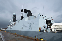 24 March, 2109, Glasgow, Scotland, UK. HMS Defender Type 45 Destroyer berthed at dock in Govan during visit to Glasgow, Scotland, UK