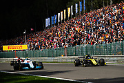 August 29-Sept, 2019: Belgium Grand Prix. Robert KUBICA, WILLIAMS RACING, Daniel Ricciardo (AUS), Renault Sport Formula One Team, R.S.19